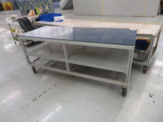 Aluminum Table on wheels