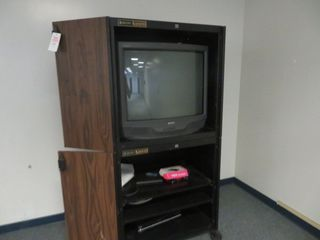 TV, VCR and Cabinet