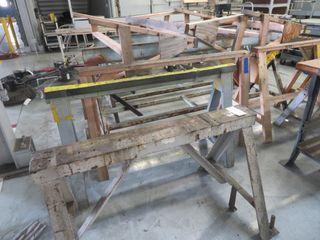 Steel, Aluminum and Wood Sawhorses (lot)
