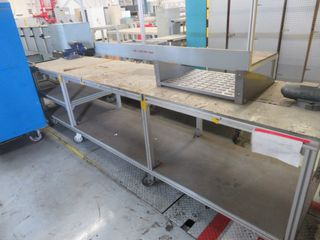Wilton Vice and Aluminum Table on wheels (2) vices