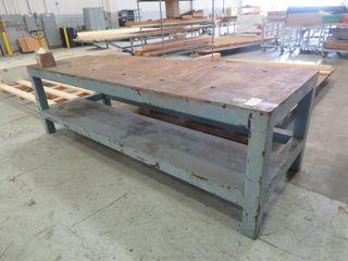 """Very Heavy Duty Steel Table, 48"""" X 116"""" X 32"""""""