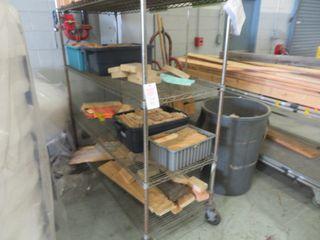 Metal Rack on wheels (2) Lot