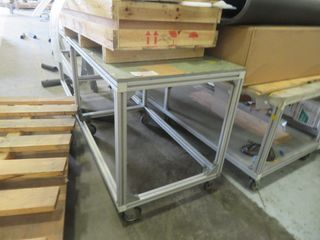Aluminum Cart on Wheels (3) Lot