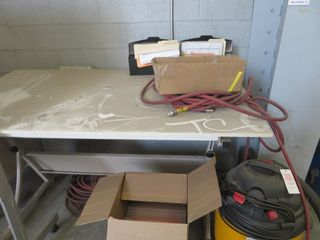 Drafting Tables, (2) and Rolling Message Board, Lot