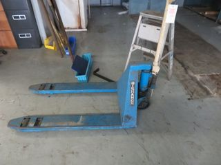 Pallet Jack and Small Ladder