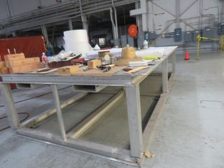 "Large Heavy Duty Aluminum Precision Table, 90"" X 180"""