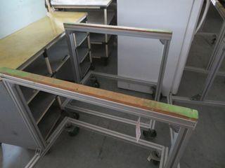Aluminum Cart on Wheels (2)