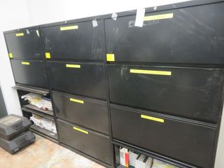 Lateral File Cabinets (lot)