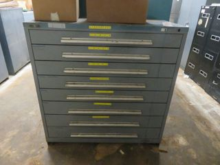 8 Drawer Tool Cabinet with contents
