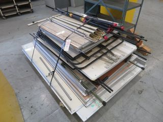 Pallet of White Boards and Other Items