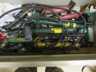 Simplex Jacks, Tools and Container (lot)