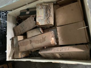 CRATE OF MISC. ELECTRICAL AUTOMATION EQUIPMENT GENERAL ELECTRIC SWITCHES ETC.