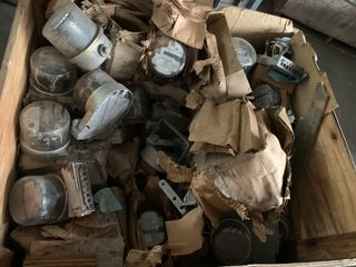 LARGE CRATE OF ELECTRICAL METERS