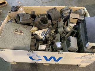 CRATE OF MISC. ELECTRICAL AND MRO EQUIPMENT PARTS