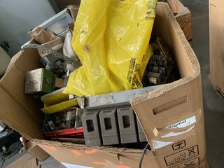 CRATE OF ELECTRICAL AUTOMATION EQUIPMENT PARTS