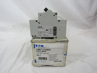 (25) Eaton mMCT-C100/4 Plug In 4P 100A 120/240VAC 50/60Hz