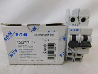 (50) Eaton FAZ-C16/2-RT-L Plug In FAZ 2P 16A 120/240VAC 50/60Hz