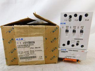 (3) Eaton E111D65X3N Non-Reversing Contactor Open 3P 65A 24VDC