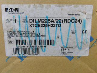 (1) Eaton XTCE225H22TD Non-Reversing Contactor Type XT 3P 225A 400VAC 2NO 2NC