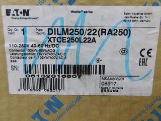 (2) Eaton XTCE250L22A Contactor Non-Reversing 3P 27 110/120VAC 50/60Hz
