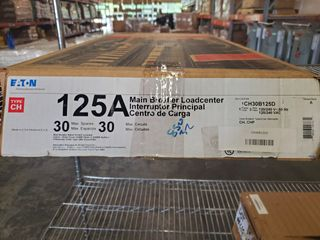 (1) Eaton CH30B125D 125A 1Ph Loadcenter 30 Circuit