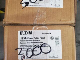 (2) Eaton CHR1G7N4GSU Meter Panel 14-50R