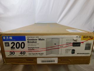 (1) Eaton BR3040B200RV Main Breaker Panel Type BR 200A 120/240VAC