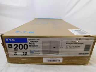 (4) Eaton BR816B200RF Main Breaker Panel Type BR 200A 120/240VAC 1 Ph 16 Cir 8 Sp NEMA Type 3R