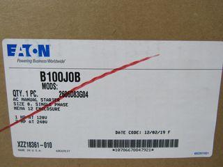 (11) Eaton B100J0B Manual Starter AC 120/240VAC 1 Ph 2 HP