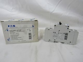 (53) Eaton FAZ-D40/1-RT-SP Plug In D Curve 1P 40A 120/240VAC 50/60Hz