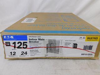 (1) Eaton BR24L70RP Main Lug Panel & (1) Eaton BRP12L125V24 Loadcenter
