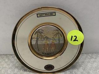 24kt GOLD RIM CHOKIN PLATE -6.5