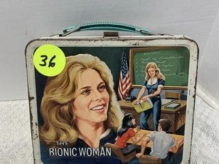 ALADDIN BIONIC WOMAN LUNCH BOX WITH THERMOS