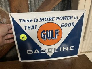 PORCELAIN GULF GAS SIGN - 16