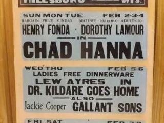 Hillsboro Wi ROYAL Theatre 1940 -50's Poster