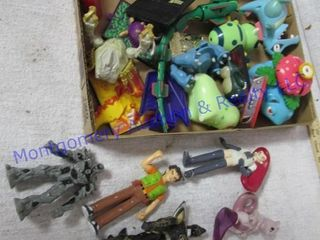 BOX OF TOY FIGURINES
