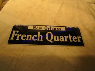 FRENCH QUARTER SIGN