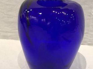 Blue Glass IJFree StateIJ Vase  7 5  High