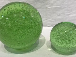 2  Glass Bubble Balls