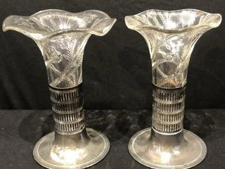 2 Forbes Silver Co Vases with Base