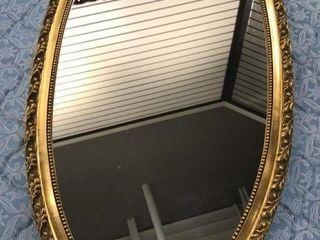 Oval Gilt Frame Mirror  45 x 21