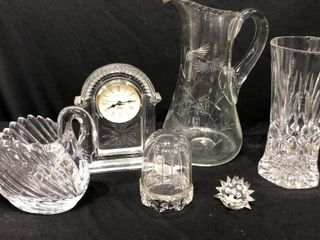 6 Clear Glass Pieces