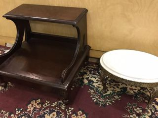 2  Bed Footstools  1 w  Marble Top