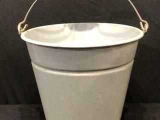 Grey Enamel Bucket