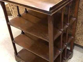 lamp Table with  4  Shelves