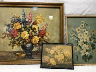 3 Flower Prints