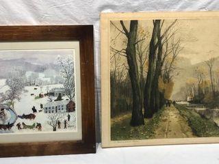 2 Antique Prints