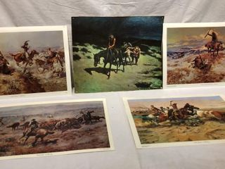 5 Western Russell Prints