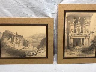 2 louis Hague lithographs
