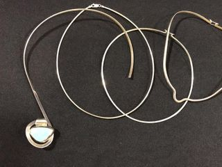 4  925 Silver Necklaces